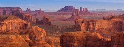 Hunt's Mesa, Monument Valley Stock Image