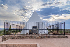 Hunt`s Tomb. Phoenix, Arizona, USA - July 8, 2017: George W.P. Hunt`s tomb in Papago Park. He was the first governor of Arizona. He is entombed with his wife royalty free stock photo