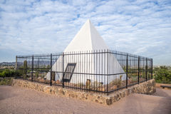 Hunt`s Tomb. Phoenix, Arizona, USA - May 24, 2017: George W.P. Hunt`s tomb in Papago Park. He was the first governor of Arizona. He is entombed with his wife royalty free stock photo