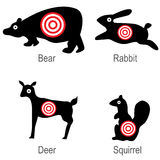 Hunted Animal Targets Royalty Free Stock Photos