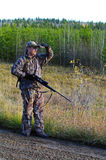 Hunter. A hunter in camoflauge in the wild in Alberta, Canada Royalty Free Stock Photo