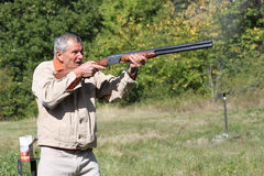 Hunter. Union of a local hunting club in Bulgarian countryside, trap shooting, 22. 09. 2012 Stock Image