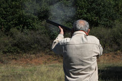 Hunter. Union of a local hunting club in Bulgarian countryside, trap shooting, 22. 09. 2012 Royalty Free Stock Photo