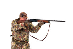 Hunter aiming Stock Photography