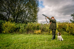 Hunter aiming Royalty Free Stock Images