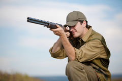 Hunter aiming the hunt Royalty Free Stock Photography