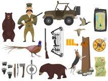 Hunter ammunition set Royalty Free Stock Photo
