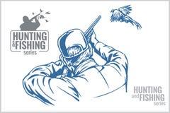 Free Hunter And Pheasant - Vintage Illustration Stock Photo - 50038620