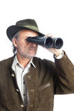 Hunter with binoculars Royalty Free Stock Photos