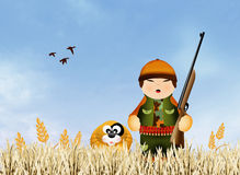 Hunter cartoon Royalty Free Stock Photo