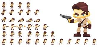 Hunter Character Sprites animé illustration libre de droits
