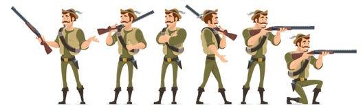 Hunter Characters Collection sonriente Foto de archivo libre de regalías