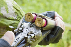 Hunter charges the gun Stock Photography