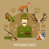 Hunter Concept professionnel illustration stock