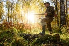 Hunter at dawn. Royalty Free Stock Images