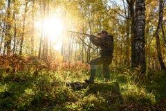 Hunter at dawn. Royalty Free Stock Photos