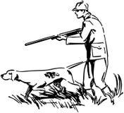 Hunter With Dog Fotos de archivo libres de regalías