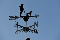 Hunter and Dog Weather Vane Royalty Free Stock Photos
