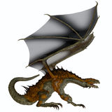 Hunter Dragon Profile. A creature of myth and fantasy the dragon is a fierce flying monster with horns and large teeth Stock Photography