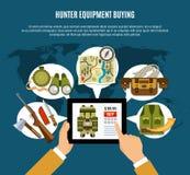 Hunter Equipment Composition illustration stock