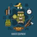 Hunter Equipment Concept Photos libres de droits