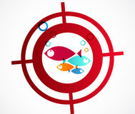 Hunter fish logo Abstract Background Royalty Free Stock Photo