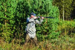 Hunter on the hunt in late summer Royalty Free Stock Images