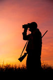 Hunter Glassing au lever de soleil Photos libres de droits