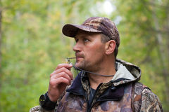 Hunter grouse Royalty Free Stock Photo