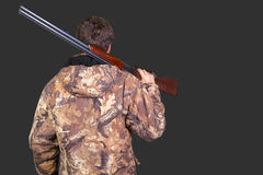 Hunter with his rifle Stock Photography