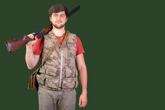 Hunter with his rifle Stock Photos