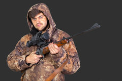Hunter with his rifle Royalty Free Stock Images