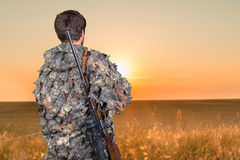 Hunter with his rifle Royalty Free Stock Photography