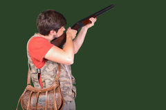 Hunter with his rifle Stock Photo