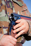 Hunter holding a rifle Royalty Free Stock Images