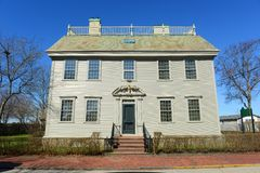 Hunter House, Rhode Island, USA. Hunter House is a historic house with Georgian Colonial style at Newport Historic District in Newport, Rhode Island, USA. This Stock Images