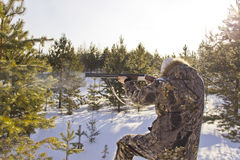 Hunter hunting Stock Photo