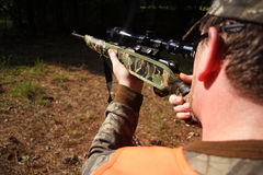 Hunter Hunting. Sportsman Royalty Free Stock Images
