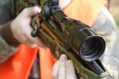 Hunter Hunting. Sportsman Stock Image