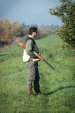Hunter hunting Stock Image