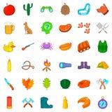 Hunter icons set, cartoon style. Hunter icons set. Cartoon style of 36 hunter vector icons for web isolated on white background Stock Images