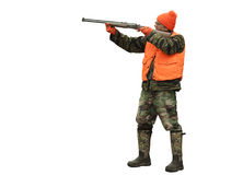 Hunter isolated. Male hunter isolated including clipping path at original size Stock Photography