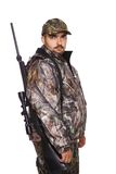 Hunter looking over right shoulder Stock Photo