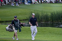 Free Hunter Mahan & Caddie On The 18th Stock Images - 14068834