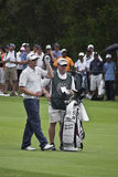 Hunter Mahan & Caddy Stock Images