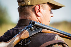 Hunter With Open Shotgun Royalty Free Stock Images