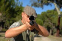 Hunter portrait stock photography