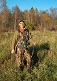 Hunter posing Royalty Free Stock Images