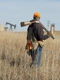 Hunter on the prairie Royalty Free Stock Photos