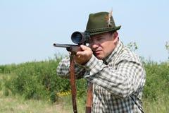 Hunter with rifle Stock Photos
